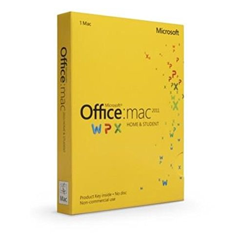 Microsoft Office for Mac Home and Student 2011 Family P