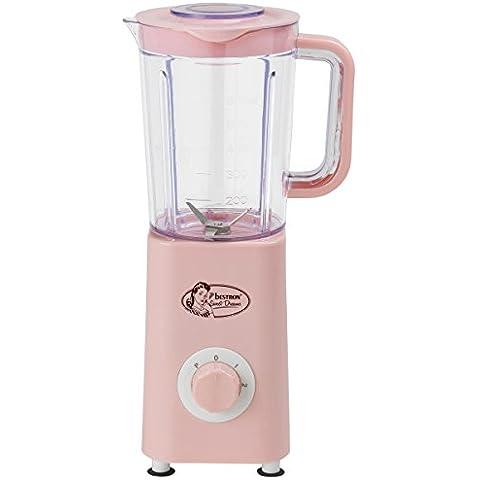 Bestron Sweet Dreams - Batidora de vaso, 300 W, color rosa