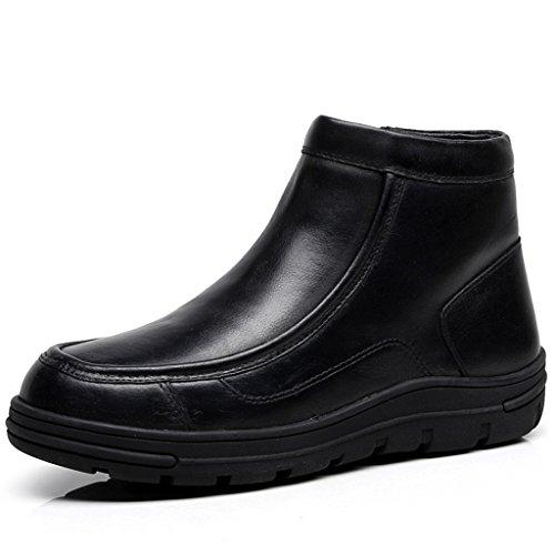Ugg-schnee-stiefel-jungen (Schneestiefel Winter Warm Verdickung Flache Kurze Stiefel Weibliche rutschfeste Baumwolle Schuhe Stiefel (Farbe : Schwarz, größe : 39))