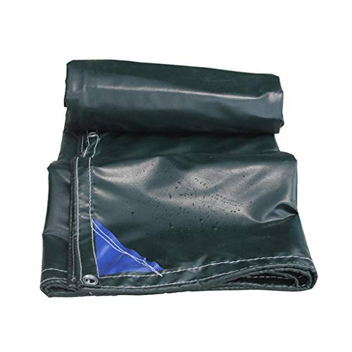 8 Unzen Verlassen (21 Unzen Super Heavy Duty Vinyl Plane für LKW, Plane Ösen und verstärkte Kanten, langlebig, schimmel- und UV-beständig, ideal für den gewerblichen Einsatz, dunkelgrün (Size : 2mX3m/6.5'x9.8'))