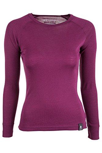 Mountain Warehouse Camiseta térmica de cuello redondo Merino para mujer