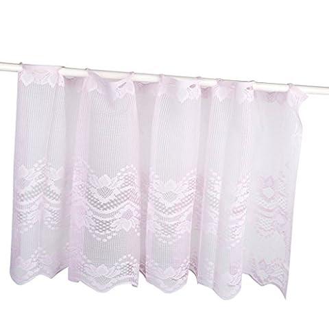 sharplace 1x EU Elegante mit Spitze Voile Fenster Swag Vorhang Decor Draperie Querbehang Querbehang Gaze