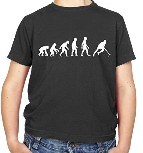 Evolution of Man Feldhockey - Kinder/Kids T-Shirt - Schwarz - L (9-11 Jahre)