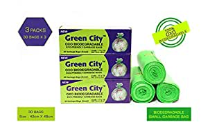 Green City OXO BIO-DEGRADABLE ECO-Friendly Garbage Bags Small Pack of 3
