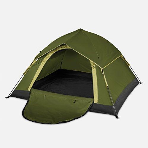 Lumaland Outdoor leichtes Pop Up Wurfzelt 3 Personen Zelt Camping Festival etc. 210 x 190 x 110 cm robust Grün - 7