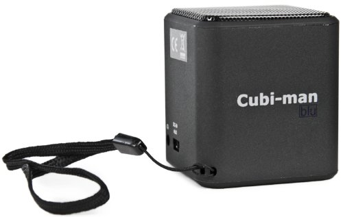 Handy-man (Cubi-Man blu schwarz Mobile Bluetooth Handy Tablet MP3-Player Spielekonsolen Lautsprecher)