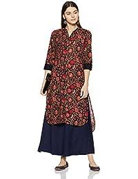 Amazon Brand - Myx Women's Asymmetrical Hemline Kurta
