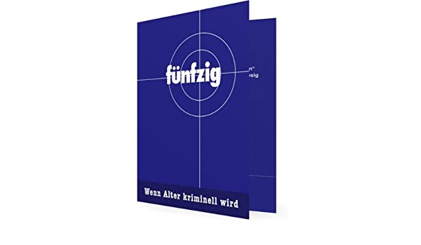 10 X Einladungskarten Zum 50. Geburtstag, Tatort Zielscheibe   Flache Karte    Erstellen Sie Einfach U0026 Schnell Ihre Individuelle Karte Mit Ihren  Persönlichen ...