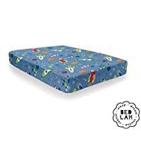 Bedlam - Supersonic -Easy Care Fitted Sheet | single Bed Size | Blue Bedding