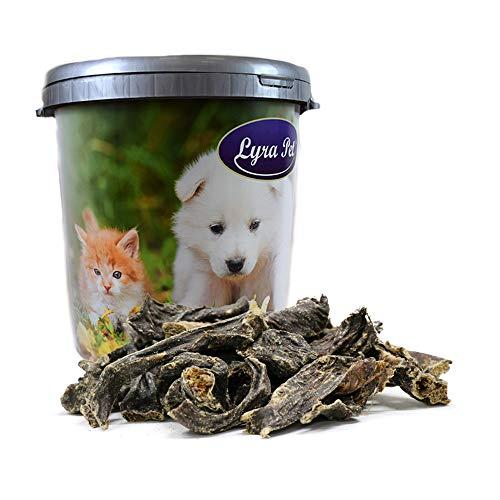 Lyra Pet 5 kg Rinderherz getrocknet Hundefutter Leckerli Belohnung in 30 L Tonne