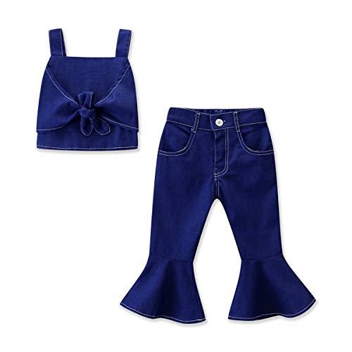 Mädchen Cowboy Anzug Hip-Hop Sommer Bodys Baby Gemütlich Trägerlos Blusen Overalls Party Mode Kinder Jumpsuit Niedlich Baumwolle Band Kleidung -