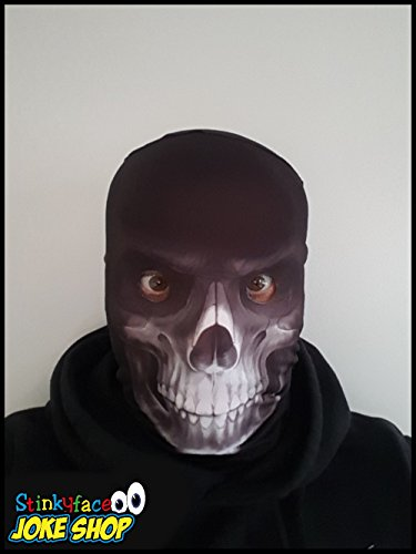 n-realostic, Lycra, voller Kopf, Kostüm (Der Sensenmann Halloween-kostüm)