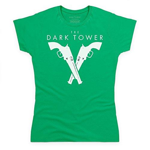 Official The Dark Tower Silver Pistols T-Shirt, Damen Keltisch-Grn