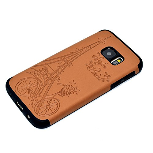 inShang Coque Samsung Galaxy S7 Housse Etui Plastique Case ductile TPU Brown Tower