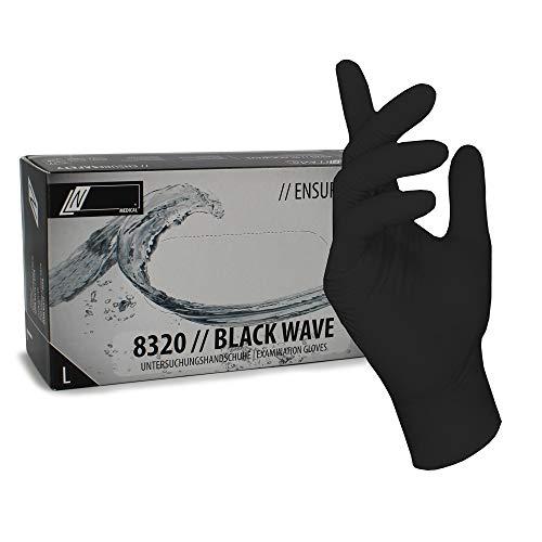 100 STK. (1 Box) Einweghandschuhe - EU-Schutz - Schwarze Nitril-Handschuhe puderfreie Tätowierhandschuhe Kochhandschuhe (10 / XL)