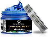 Blue Hair Wax Temporary - Hair Wax, Natural Matte Hairstyle Hair Dye Wax for Party 4 oz