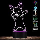 ENLAZY Adorabile Lampada di Illusione Ottica 3D di Natale Corgi 7 Colori Touch Lampada da Comodino Camera da Letto per Bambini Decorazione Camera da Letto Lampada Giocattolo per Cane Tema