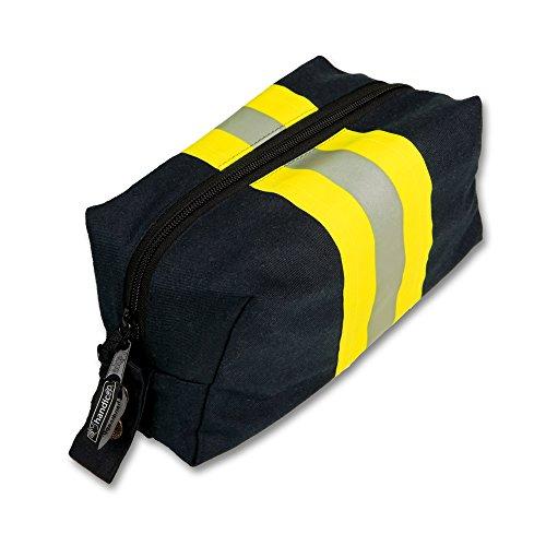 Kulturtasche blau aus Feuerwehr Einsatzkleidung - Feuerwehr-applikationen