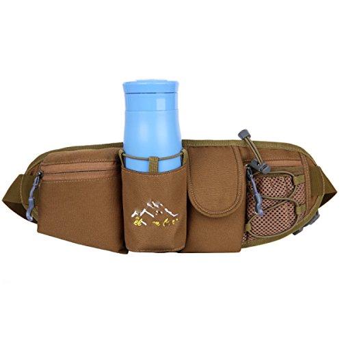 GXYLLDS Deporte Bolsa Casual Cintura Cintura Bestiame Cintura Diseño Traspirabile Malla Impermeabile Auricolare Perro Caminar Y Andar En Bicicleta Brown