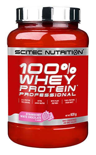 Scitec Nutrition PROTÉINE 100% Whey Protein Professional, fraise-chocolat blanc, 920 g