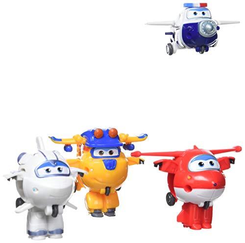 ColorBaby Super Wings Transform-a-Bots 4 figuras de acción transformables: Paul, Donnie, Astra...