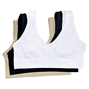 Pack Of 3 Camisette Comfort Bras In 3 Colours