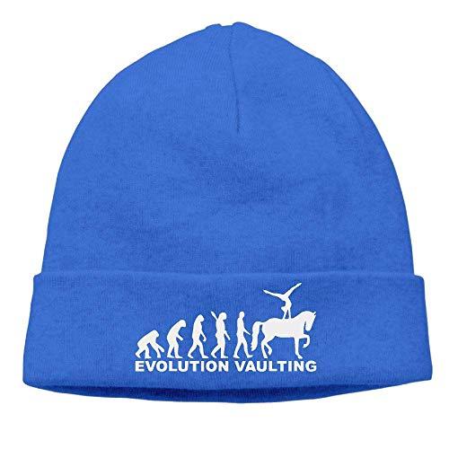 Funny Hip hop Unisex Thick Woolen Cap for Unisex, Horse Vaulting Evolution Beanie Hat