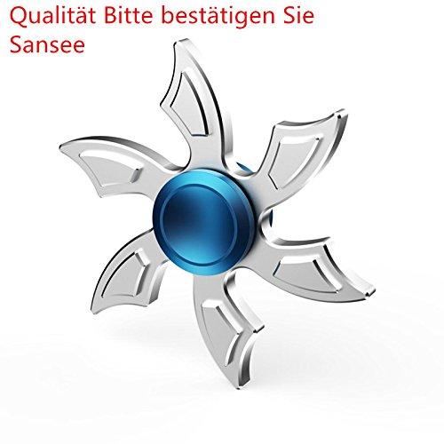 Sansee 6 Blatt Gyro Fidget Spinner Dreieck Single Finger Dekomprimierung Gyro Hand Spinner Fingertip Gyro