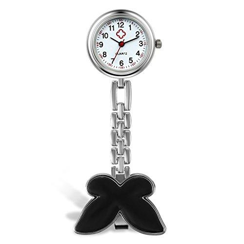 LANCARDO Krankenschwester Herren Damen Armbanduhr Analog mit Legierung Armband Schmetterling Design