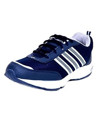Richer Men's Blue & White Sports Shoes-10 UK