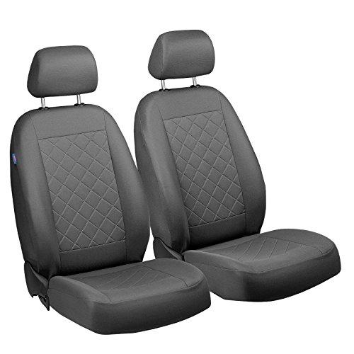 Freelander anteriore Coprisedili–per guidatore e passeggero–Colore Premium Grigio gepresstes quadri