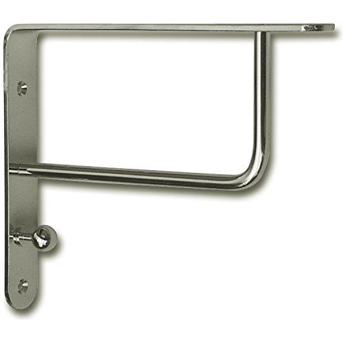 GedoTec® Design Garderobenkonsole Regalkonsole Regalträger Modell SINGA auf Stahl massiv | Edelstahl Finish | Tragkraft 40 kg | Markenqualität für Ihren Wohnbereich