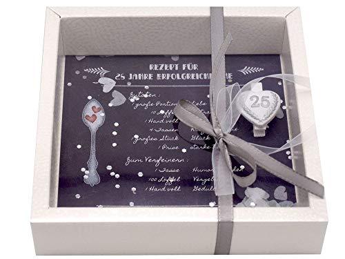 ZauberDeko Geldgeschenk Verpackung Silberhochzeit Gutschein Geschenk Silberne Hochzeit Rezept 25 Jahre Ehe