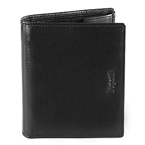 Bugatti Romano Geldbörse Herren Leder mit RFID Schutz – Portemonnaie Herren Hochformat Braun – Geldbeutel Portmonee…