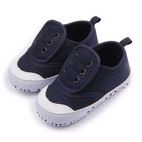 Luck Bébé Enfant Garçons Fille Unisexe Chaussures Baskets Toile Chaussons Soulier Godasse Anti-dérapant (12cm, Rouge) Noir