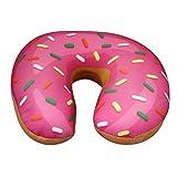 Preis am Stiel Nackenkissen ''Donut'' Pink | Nackenhörnchen für Kinder | Nackenstützkissen für die Reise | Nackenrolle fürs Flugzeug | Donut Kissen | Geschenk für Freundin Pink