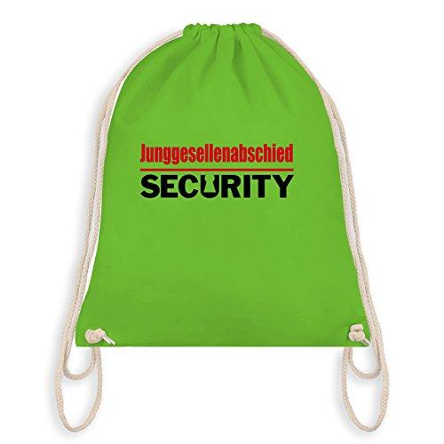 JGA Junggesellenabschied - Junggesellenabschied Security - Turnbeutel I Gym Bag Hellgrün