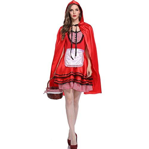und amerikanische Halloween-Kostüme New Niggling Red Riding Hood Nightclub Queen Konstante Leistung Stage Dress versuchung (Color : Red, Size : Einheitsgröße) ()