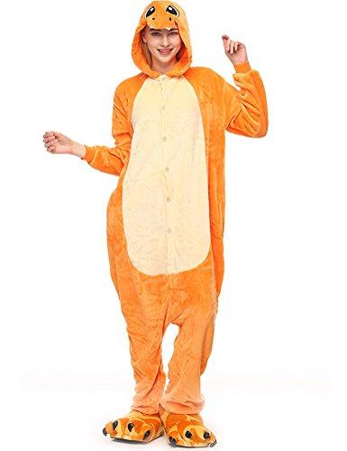 achsene Onesie Kostüm Jumpsuit Schlafanzug,Hausanzug,Jogginganzug,Tier Cosplay kostüm,Schlafanzug Hoodie Onesie Nachtwäsche Pyjamas Tieroutfit mit Kapuze Tiger L ()