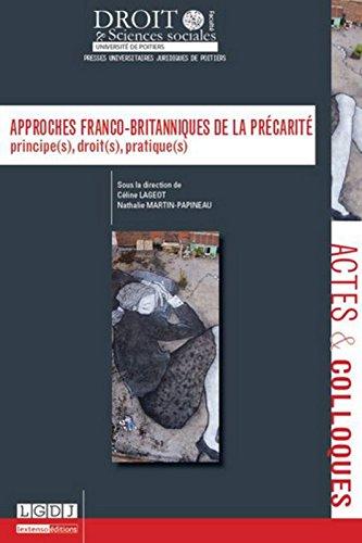 Approches franco-britanniques de la précarité par Collectif
