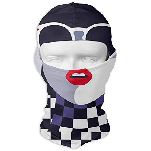 Sunglasses Girl Check Winter Cycling Full Face Mask UV Protection Head Hood for Men and Women