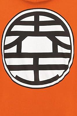 Dragonball Symbols Sweat à capuche orange