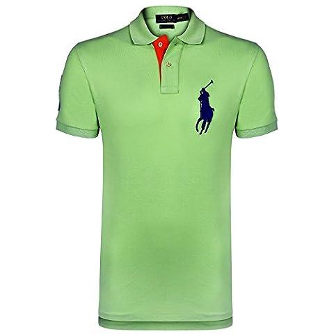 Ralph Lauren - Polo - Col Chemise Italien - manches courtes - Homme vert Green Multi Medium