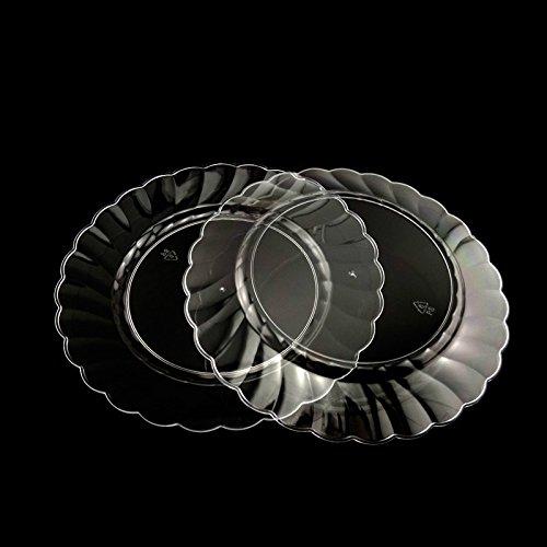 Verfügbare air Service Geschirr, runder Teller, Hartplastik Grill Platte, Steak Kuchen, Western Dish, Obst Schale, Trompete transparent