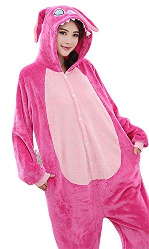 Sweet Schläfsack Cartoon Tier Spielanzug Pyjamas Overall Winter Kinder/Damen (Prink Stich, S) (Kinder Disney Kostüm Tier Für)