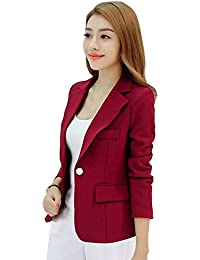 EFINNY Women Business Blazer Suit Jacket Office Work OL Long Sleeve Jacket Outwear Coat Tops(Shipped From USA!!!)