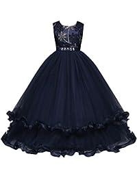 Amazon.it  Vestito bianco nero - 122   Bambine e ragazze  Abbigliamento 8a1f0c30d28
