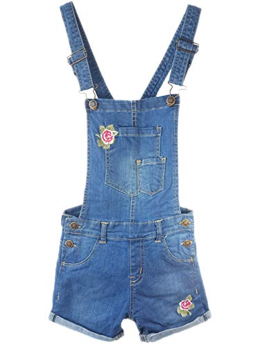 AEL Neue Mädchen Kinder Denim Latzhose Outfit Shorts Kleid Overall Party Größe 3-14 Jahre Overall-shorts-outfit
