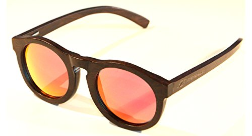 Hysteresis-Hysteresis Root Rose-Sonnenbrille Black Walnut Holz mit Kristalle Rosen polarisierten