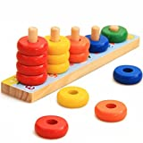 Trinkets & More - Rainbow Calculation Counting Stacker Math Toy (15 Pieces) |